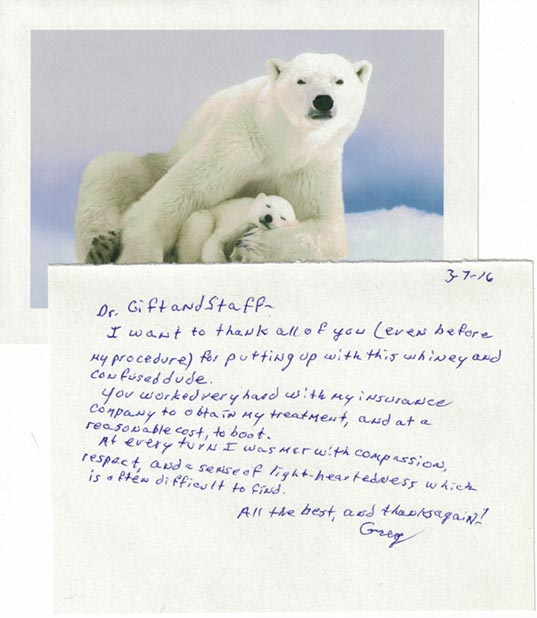 greg thank you card